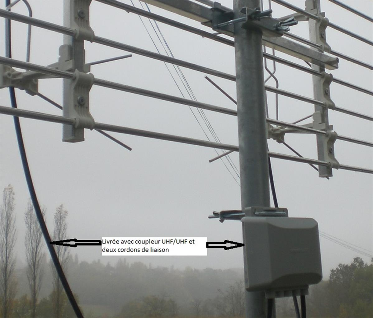 Antenne UHF double panneaux 458PL Emme Esse